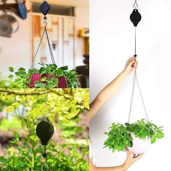 Easy Reach Plant Pulley Set - up to 15kg(Maximum)weight load capacity