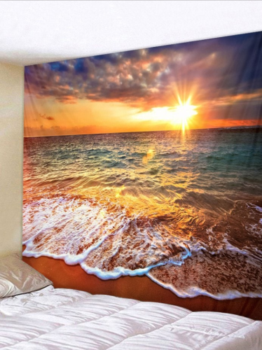 Sunlight Beach Printed Wall Tapestry
