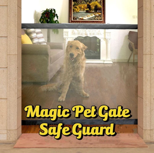 PORTABLE KIDS &PETS SAFETY DOOR GUARD