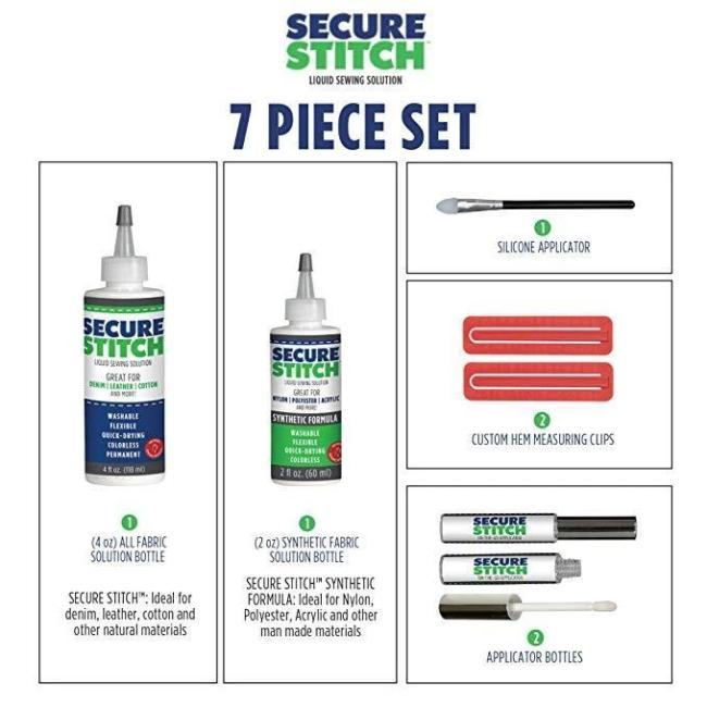 Secure Stitch Liquid Sewing Solution Kit!