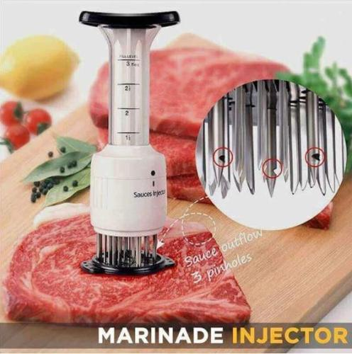 Marinade Meat Injector-enjoy deeper and quicker penetration of marinades up to 40% reduced cooking time!