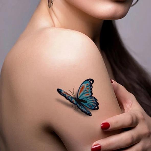 Trendy 3D Tattoo Stickers - Waterproof and Sweatproof