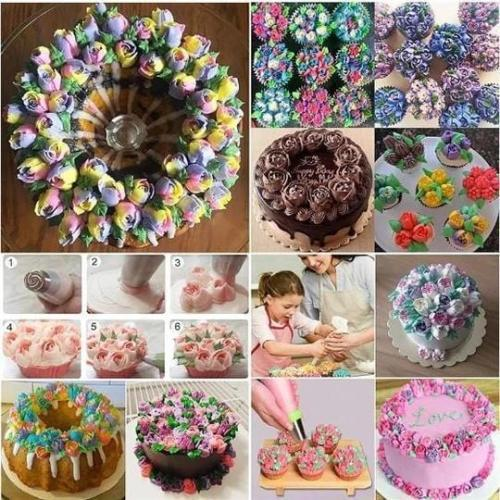 14Pcs DIY Baking Tools Russian Tulip Flower Cake Icing Decorating Tips