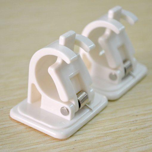 Self Adhesive Hooks Rod Bracket-Strong holding power up to 2kg (2pcs)