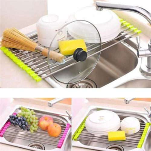 Roll-up Dish Drying Rack - non-slip, rust resistant, and totally BPA-free