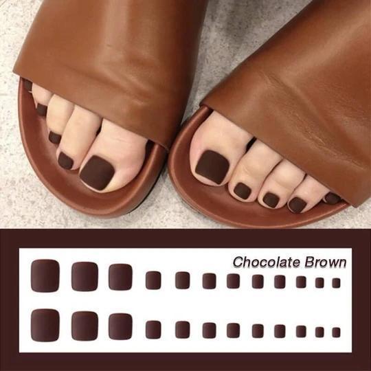 1min Style Change Reusable Wearing Manicure Fake Toenails