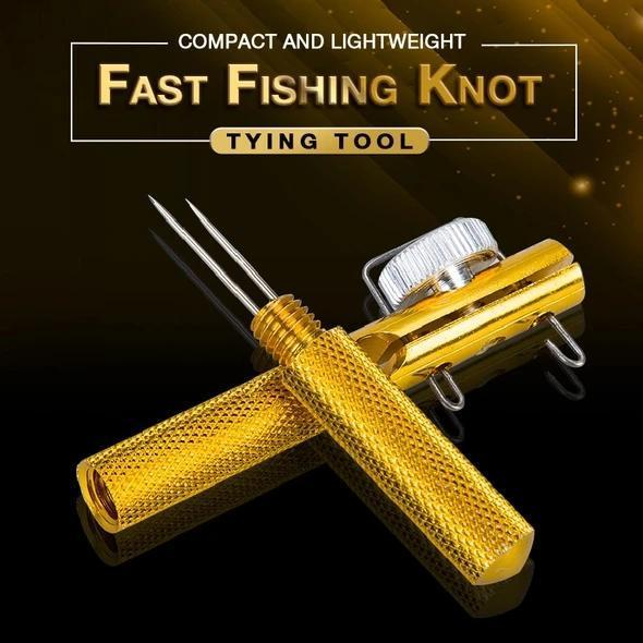 Fast Fishing Knot Tying Tool-hook remover, hook eye cleaner, loop tying, line knotter tying