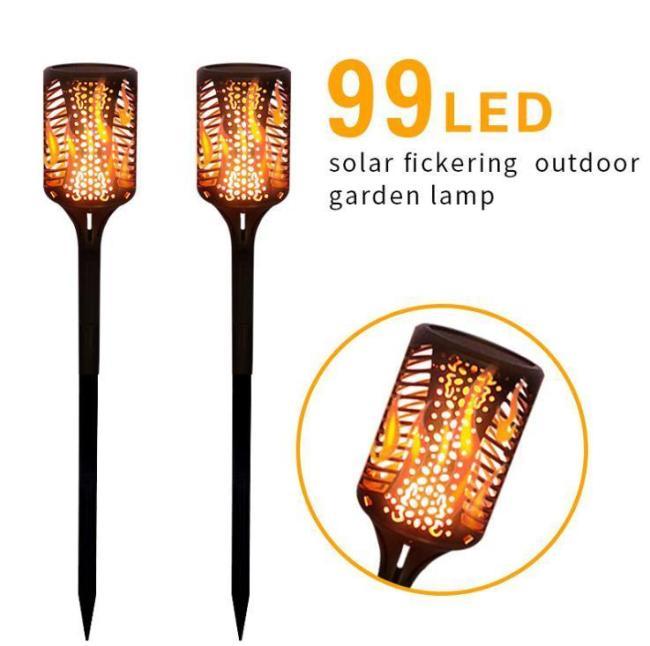 Solar Lawn Light Flame Torch Light Outdoor Garden Decoration Light