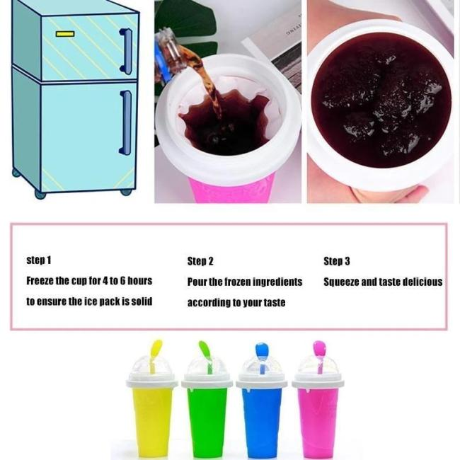 Quick-frozen smoothies - quickly turn your favorite beverage into ice cream