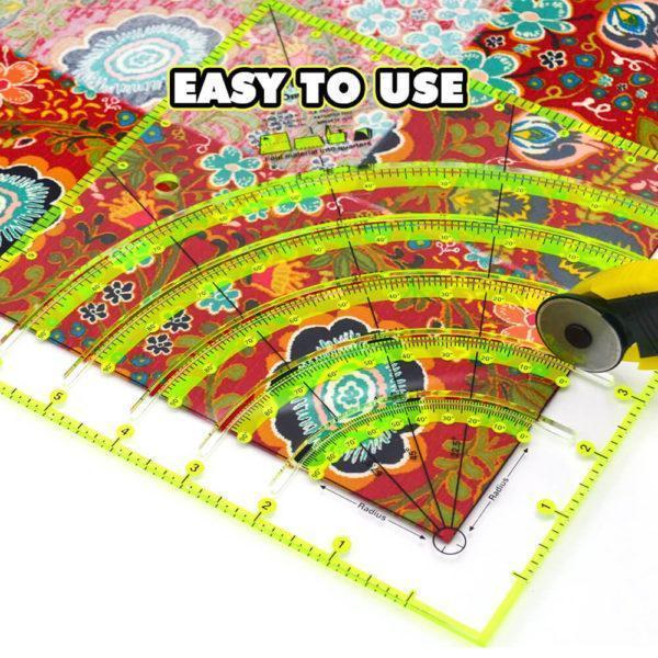 QuiltArc Circle Cutter Ruler