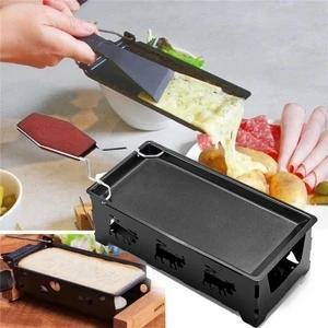 Non-stick Black Iron Cheese Raclette Grill Plate