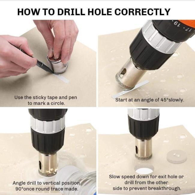 Ceramic Flower Pot Hole Drilling Bit Set