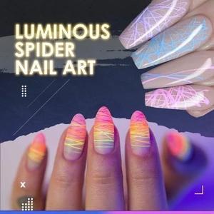Luminous Spider Nail Gel Set