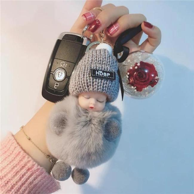 Super Cute Furry Doll Keychain