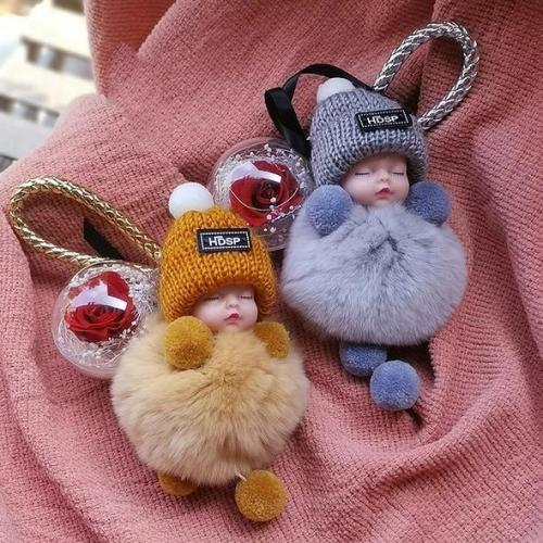 Super Cute Furry Doll Keychain