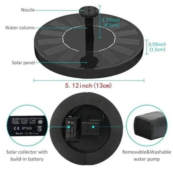 Solar Powered Fountain Pump