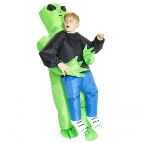 Alien Abducting Human Inflatable Costume