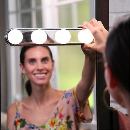 Four Bulb Mirror Headlights LED Makeup Lamp