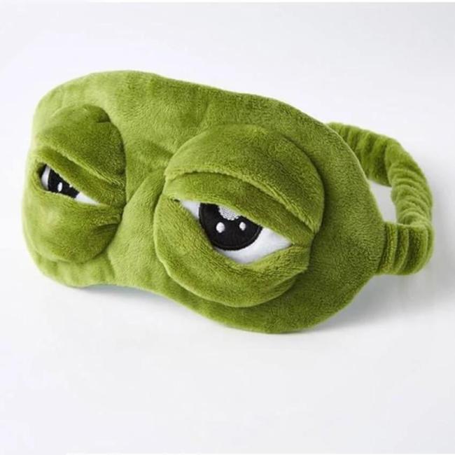 3D Plush Frog Eye Mask