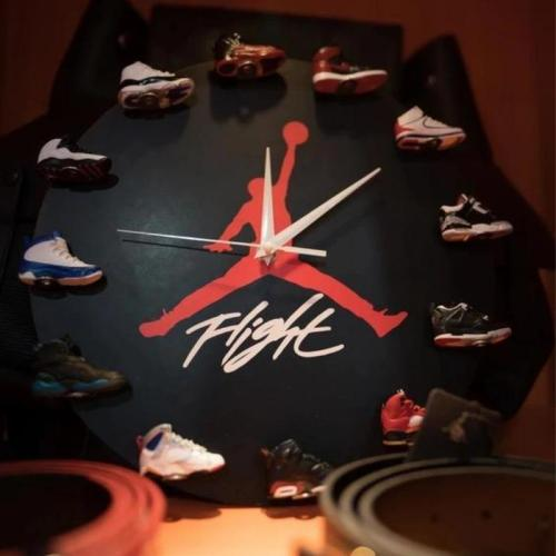 Air Jordan 3D Sneaker Clock with 1-12 Mini Sneakers-Free shiping