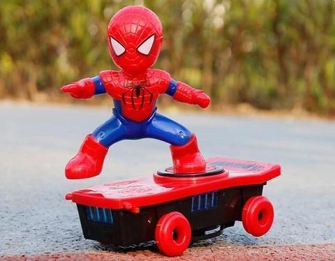 Spiderman Scooter Electric Car Stunt Music led Light Toys