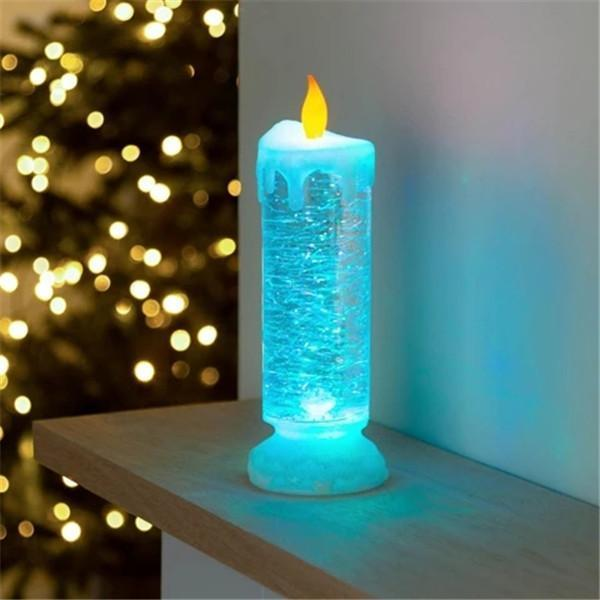 Rechargeable Colour Electronic LED Waterproof Candle With Glitter