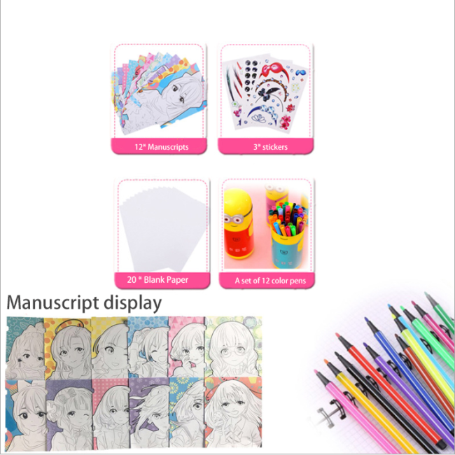 Dolls for Painting,Three-in-one Painting Toy Kits