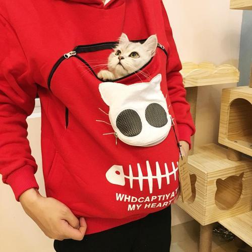 Cat Pouch Hoodie Sweatshirt