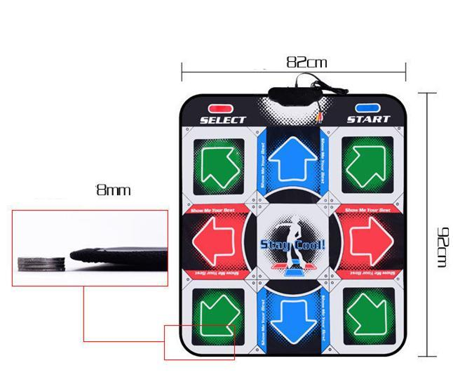 Dancing Mat - with AUX Music - with Multi-Function Games and Levels