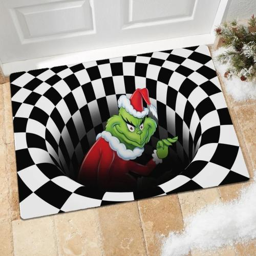 Grinch Vortex Illusion Doormat