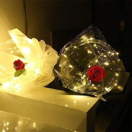 LED Luminous Balloon Rose Bouquet