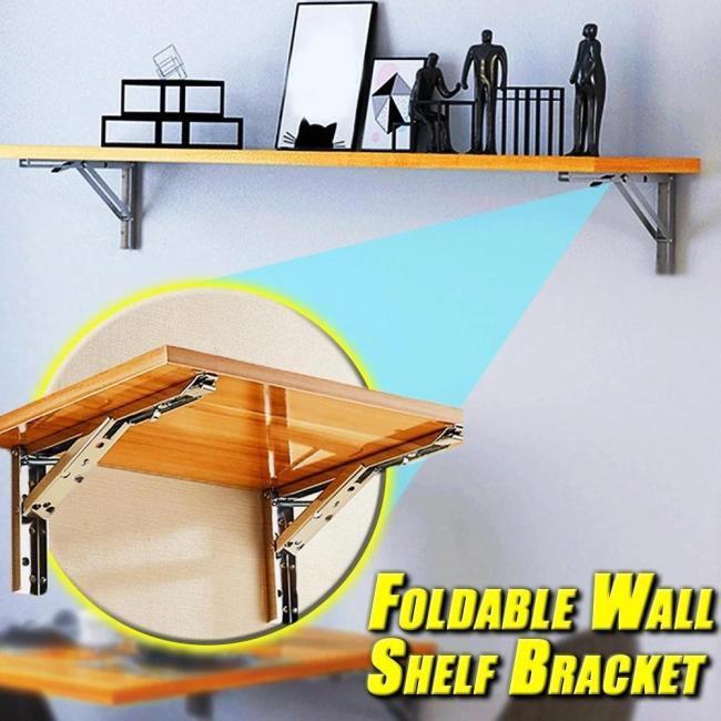 Foldable Wall Shelf Bracket ( 2Pcs)