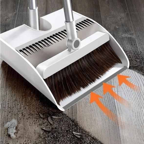 Stainless Steel  Built-In Comb  Rotating Broom