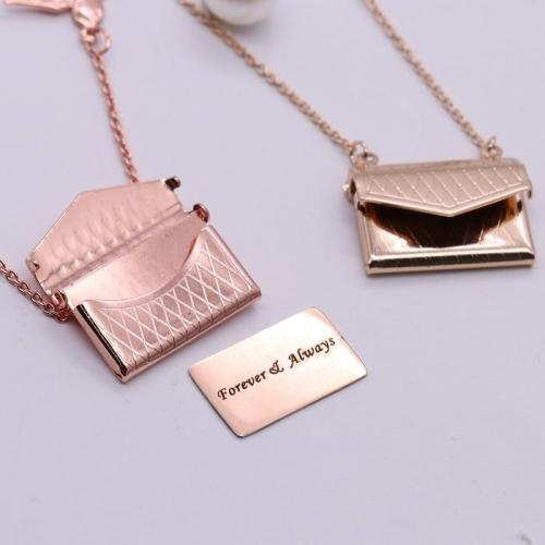 Custom Photo Engraved Handbag Necklace