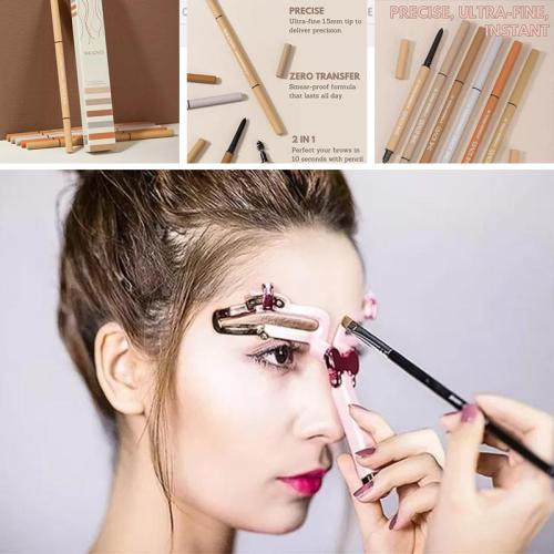 Adjustable Eyebrow Shapes Stencil&SHE LOVES Eyebrow Pencil