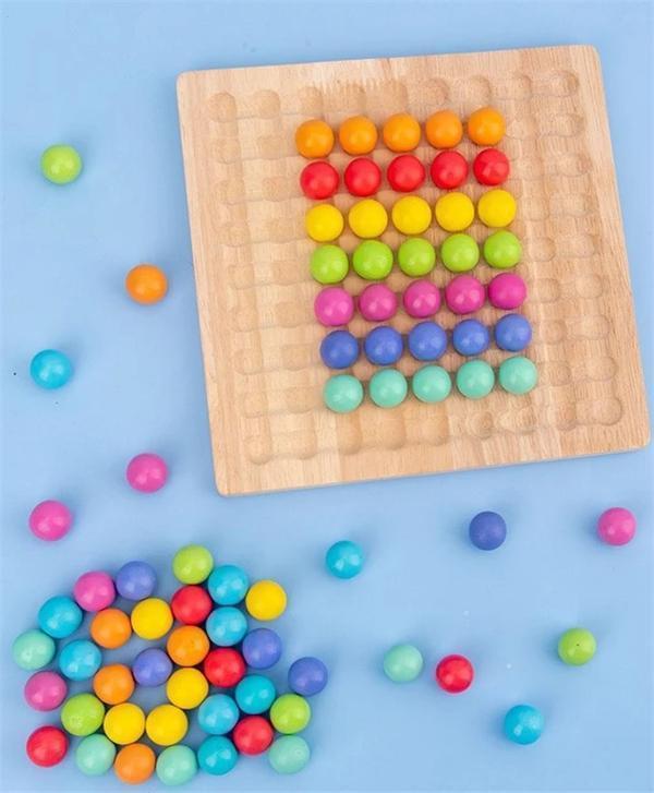 Wooden Go Games Set Dots Shuttle Beads Board Games