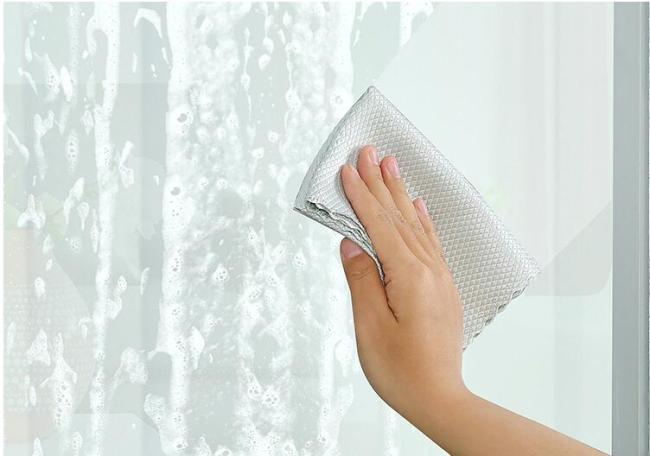 Non-marking cleaning glass cloth fish scale grid wipes