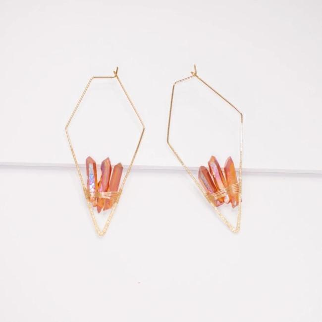 Quartz Earrings