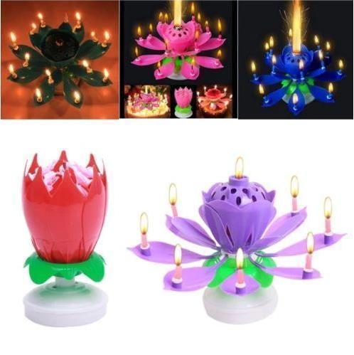Musical Lotus Flower Candle