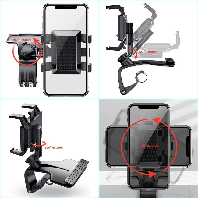 1200 Degree Rotation Universal Car Dashboard Phone Holder