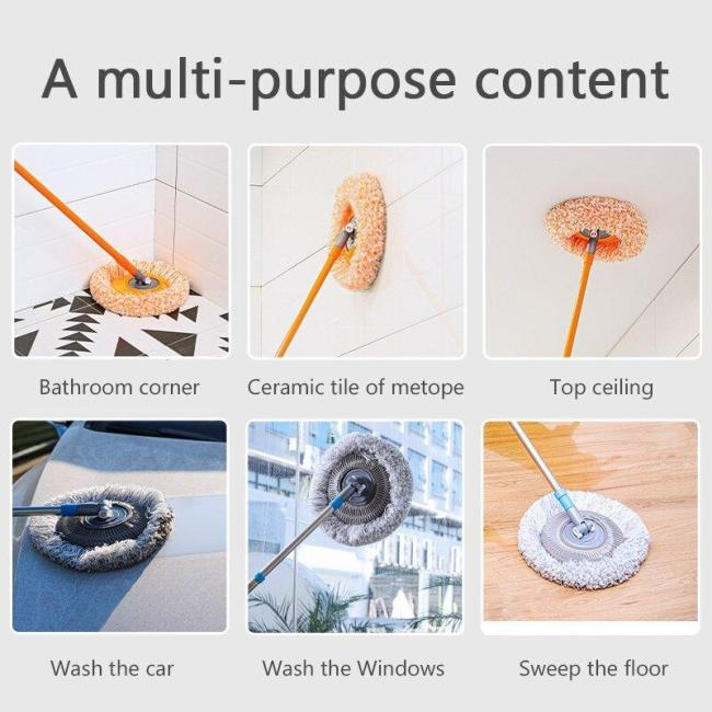 360 Degree Rotatable Adjustable Cleaning Mop
