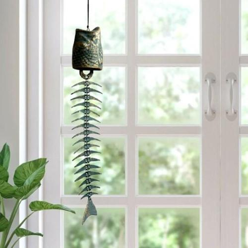 Metal Fish Bone Wind Chimes