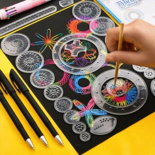 Spirograph Drawing Ruler Set