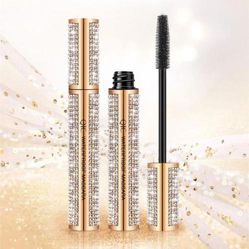 4D Flash Diamond Waterproof Silk Fiber Thick Lengthening Mascara