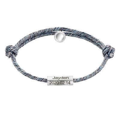 Magnetic personalized custom woven couple bracelet