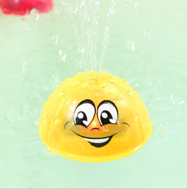 Electric Induction Sprinkler Ball with Light Music Baby Bath Toy