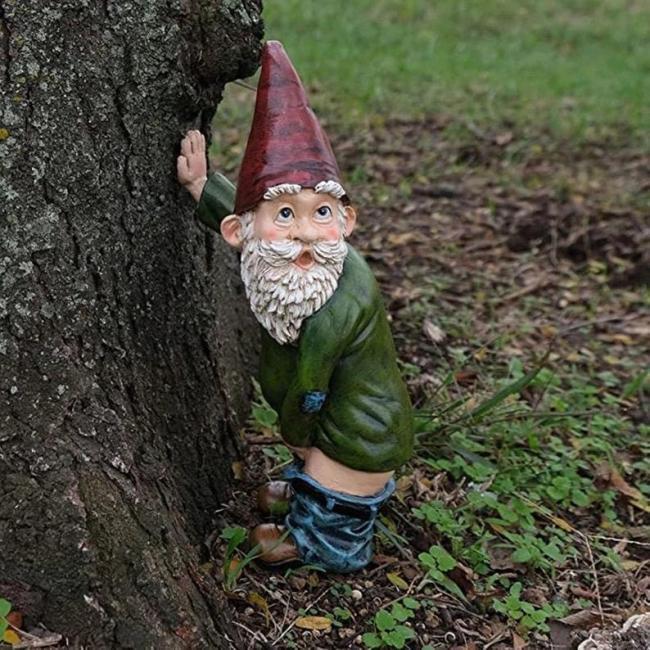 Funny garden gnomes cute gnome for garden decorating