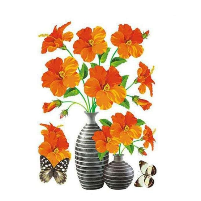 DIY Plant Vase 3D Stereo Stickers Self-Adhesive