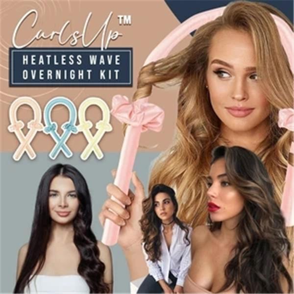 Heatless Hair Curling Wrap Kit
