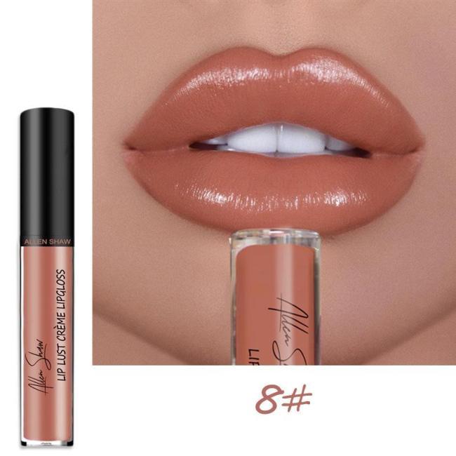 12 Color Cream Texture Waterproof Lipstick